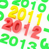 2012 new year. Series of date about new year Stock Image