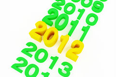 2012 new year. Series of date about new year Stock Images