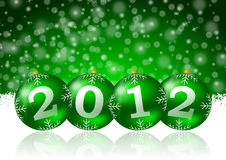 2012 new year. Illustration with christmas balls royalty free illustration