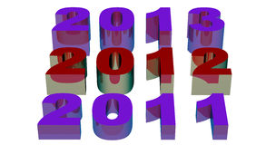 2012 new year. Illustration of 2012 new year render in 3D vector illustration