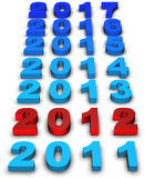 2012 new year. Illustration of 2012 new year render in 3D Stock Illustration