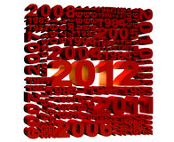 2012 new year. Illustration of 2012 new year render in 3D Royalty Free Illustration