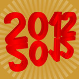2012 new year Stock Photos
