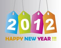 2012 new year. Over tags background. vector Royalty Free Illustration