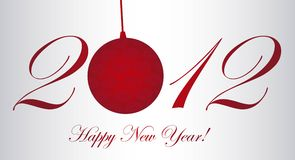 2012 new year. 2012 with christmas ball, happy new year. vector stock illustration