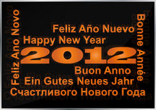 2012 new year. Illustration of 2012 happy new year in multi language Royalty Free Stock Image