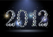2012 new year. 2012 year diamond digits with sparkles Stock Photography