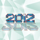 2012 new year. On diamand background Vector Illustration