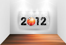 2012 New Year. Light galerry design Stock Images