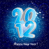 2012 new year. New year card - ice numbers 2012 Royalty Free Stock Photos