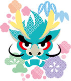 2012 new year. Dragon japanese style Royalty Free Illustration