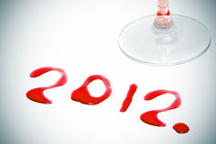 2012, the new year Royalty Free Stock Photography