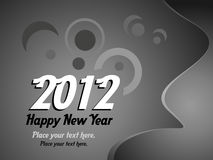 2012 New Year. Background, vector illustratio Royalty Free Stock Photo