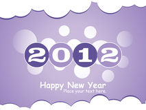 2012 New year. Happy new year 2012, vector illustration Royalty Free Stock Photography