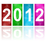 2012 new year. Abstract background Royalty Free Stock Photos