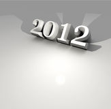 2012 New Year. 2012 Happy New Year ,3D art Royalty Free Stock Image