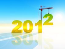 2012 new year. Industrial illustration of the new year Stock Photography