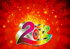 2012 new year background. Vector illustration Stock Image