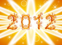 2012 new year background with floral or. Vector illustration of a 2012 new year background with floral ornament royalty free illustration