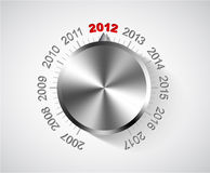2012 New Year card. With chrome knob Stock Image