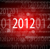 2012 new year card. Made from digits 0, 1, 2 Stock Photography