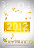2012 New Year Celebration. Background for cover, flyer or poster with glitter elements Stock Photos