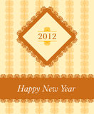 2012 - New Year celebration. Background for poster and flayer vector illustration