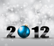 2012 New Year Celebration Background. With Glitters and a lot of stars and lights suggestive effect stock illustration