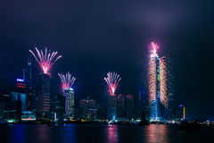 The 2012 New Year Celebration in Hong Kong Royalty Free Stock Image