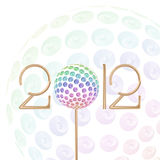 2012 New Year Celebration vector Background. 2012 New Year Celebration colorful vector abstract Background with circle Glitters Stock Images