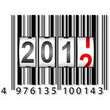 2012 New Year counter, barcode, vector. Royalty Free Stock Photos