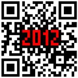 2012 New Year counter, QR code vector. Royalty Free Stock Photography