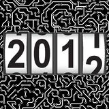 2012 New Year counter, vector. Seamless pattern Royalty Free Stock Photography