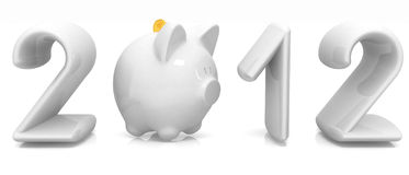 2012 a new year financial concept. On a white background Stock Images