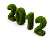 2012 new year grass concept Royalty Free Stock Images