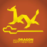 2012: New Year greeting card. Year of the dragon Stock Images