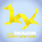 2012: New Year greeting card. Year of the dragon Stock Illustration