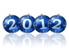 2012 new year illustration. With christmas balls Stock Image