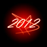 2012 New year illustration. With red color Royalty Free Stock Photos