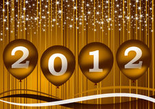 2012 new year illustration. With balloons Stock Photos