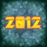 2012 new year logo. Illustration on abstract background Stock Photos