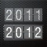 2012 new year on mechanical scoreboard Stock Photography