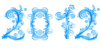 2012 new year numbers Royalty Free Stock Images