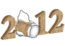 2012 New Year's Eve. On a white background stock illustration