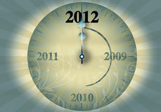 2012 New Year's Eve. On a white background vector illustration