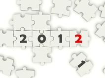 2012 New Year sing. On puzzle Stock Images