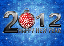 2012 New Year Snowflakes Ornament Illustration Royalty Free Stock Photos