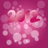 2012 New years eve decoration. New years eve decoration with the number 2012 on a pink abstract background Royalty Free Stock Images