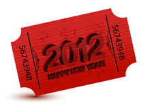 2012 new years party ticket Royalty Free Stock Photos