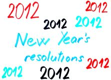 2012 New year´s resolutions Stock Photos